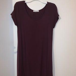 Maroon/Burgundy T-shirt dress